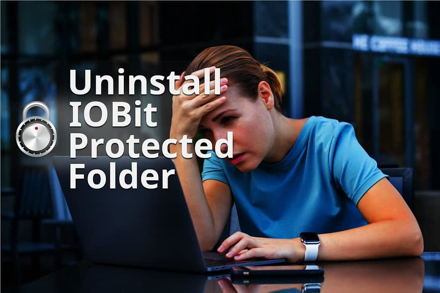 how to uninstall iobit-protected folder without password