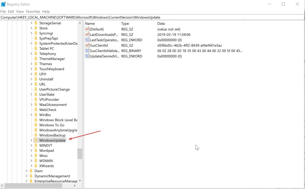 windowsupdate registry Windows could not find boot wim
