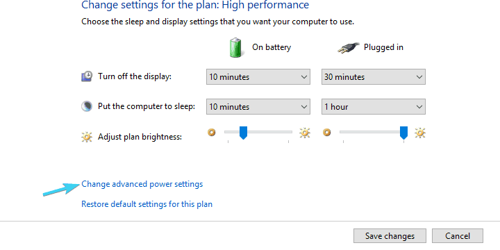 computer does not go to sleep, change advanced power settings