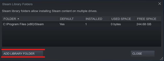Steam - add library folder