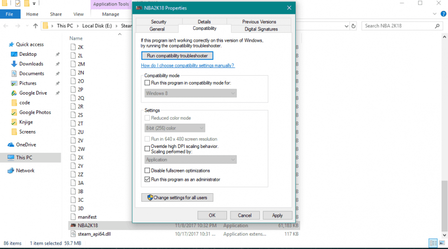 Steam games do not work Windows 10