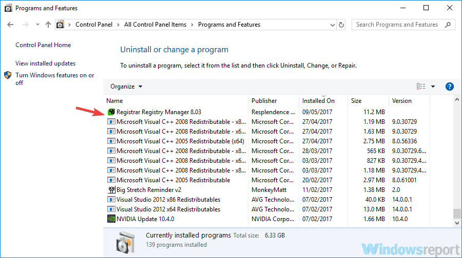uninstall application cpx.exe
