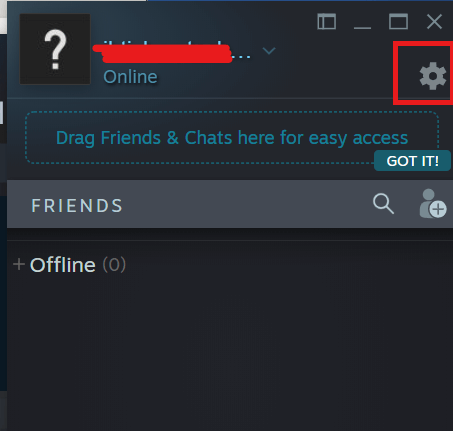 Steam - Friends and chat - Settings