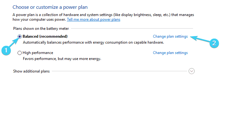the computer does not go to sleep, change the schedule settings