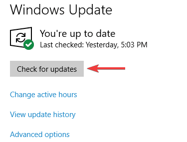 look for updates
