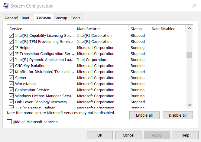 The Razer Audio Visualizer for Services does not work