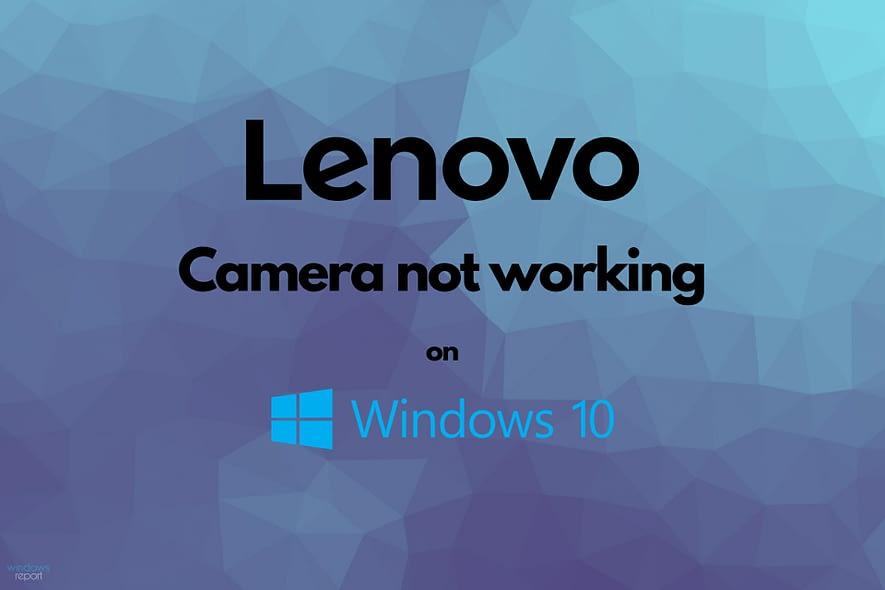 Lenovo camera does not work