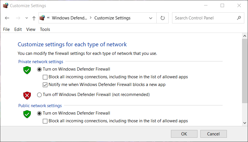 Customize settings minecraft smi that does not install Windows 10