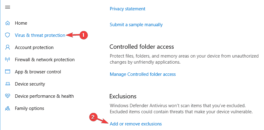 Windows Defender exclusions do not work
