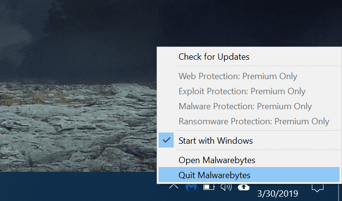 Quit the authentication issue with Malware Bytes Antivirus Eudora