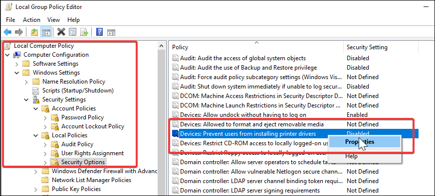 install the printer driver without administrator privileges