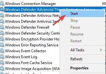 Windows Defender this program is turned off