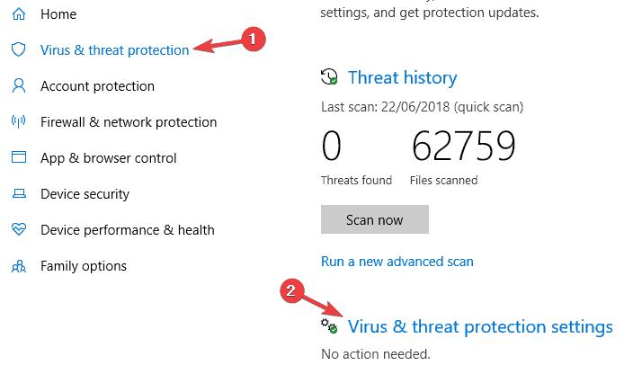 Windows Defender blocks everything
