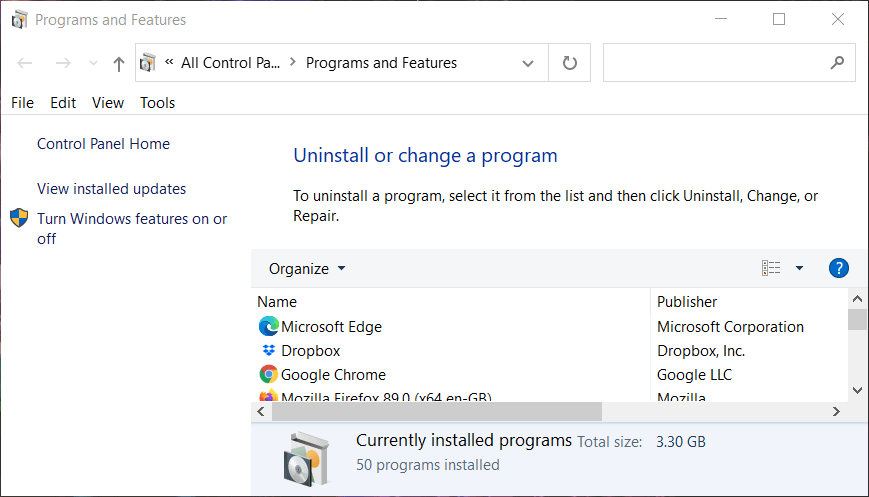 Programs and Features minecraft forge does not install Windows 10